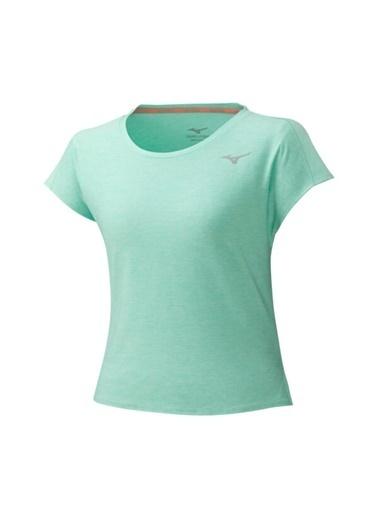 Mizuno Style Tee Kadın T-Shirt Yeşil Yeşil
